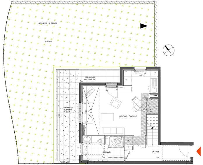 Plan T3 neuf à L'Étang-la-Ville de