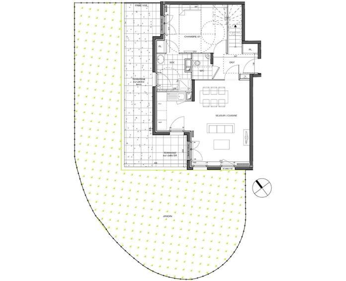 Plan T4 neuf à L'Étang-la-Ville de