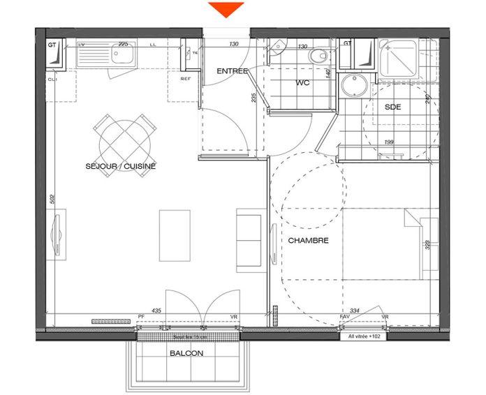 Plan T1 neuf à L'Étang-la-Ville de