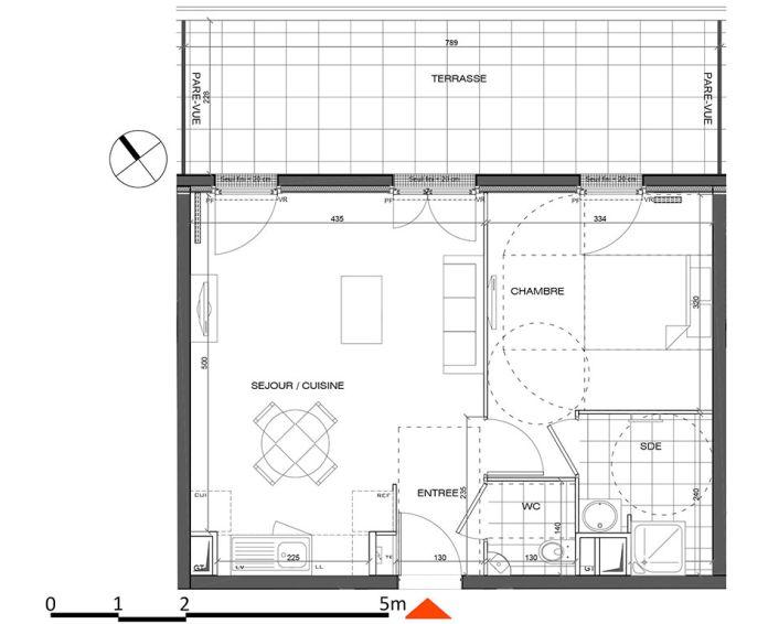 Plan T2 neuf à L'Étang-la-Ville de