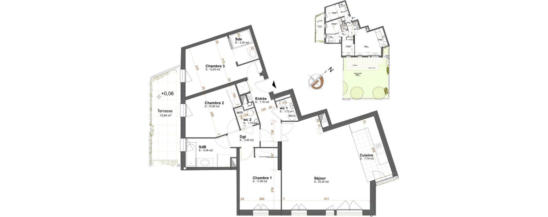 Appartement T4 de 99,45 m2 à Maisons-Laffitte Centre