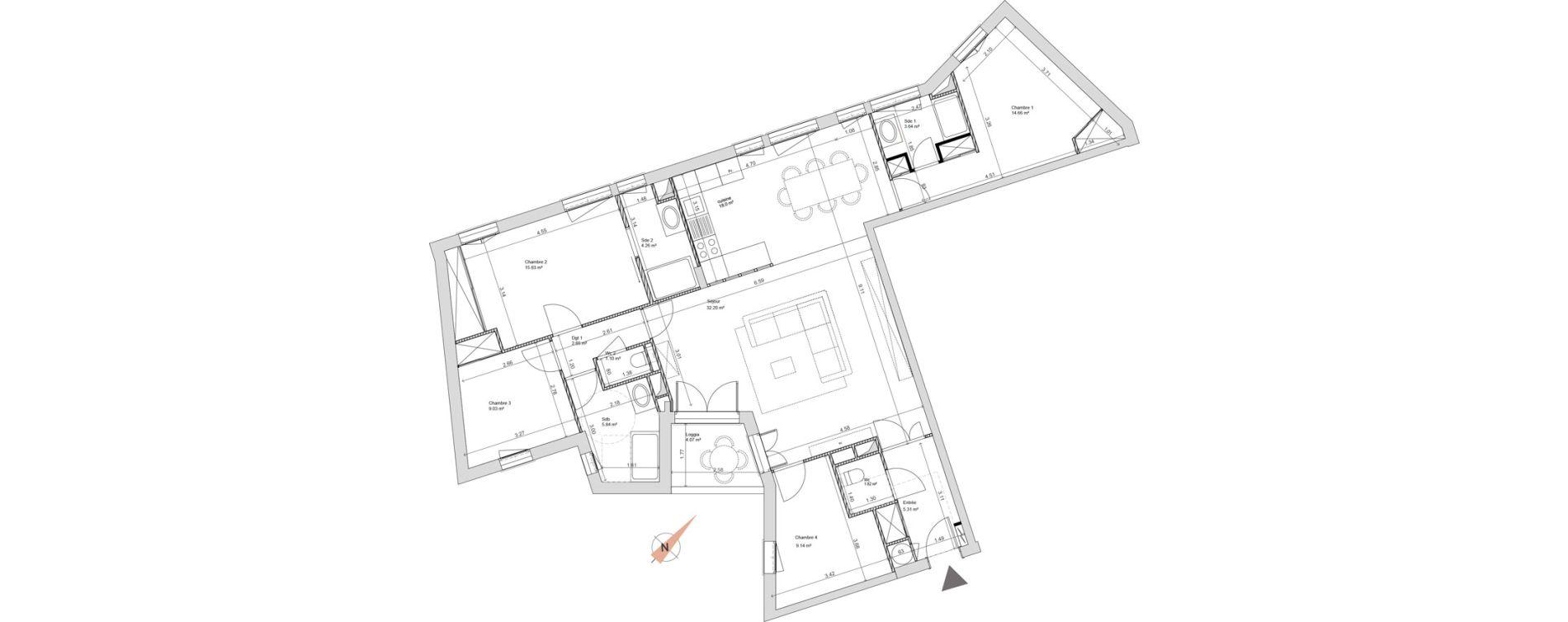 Appartement T5 de 127,55 m2 à Maisons-Laffitte Centre