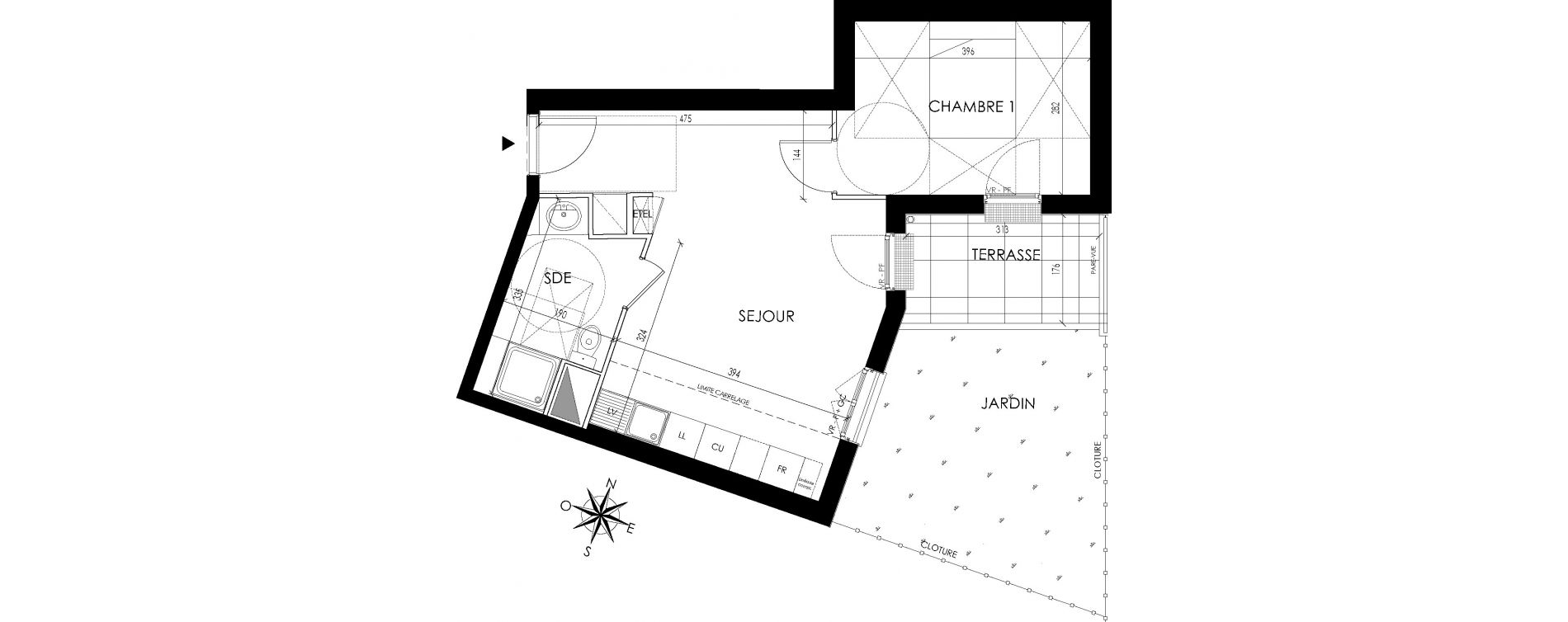 Appartement T2 de 41,00 m2 à Maisons-Laffitte Centre