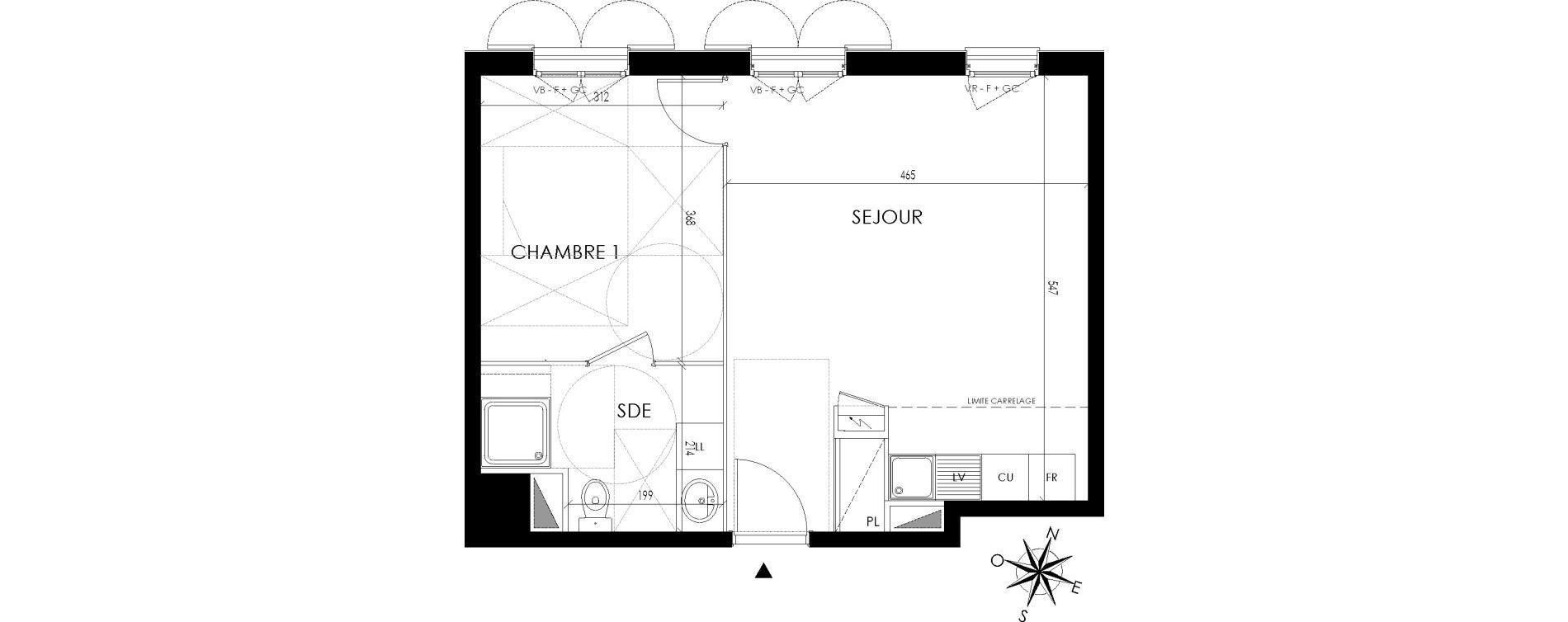 Appartement T2 de 43,09 m2 à Maisons-Laffitte Centre