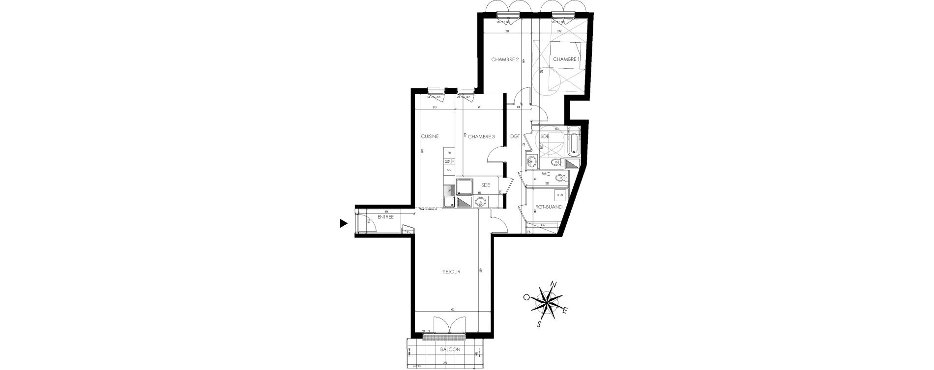 Appartement T4 de 103,77 m2 à Maisons-Laffitte Centre