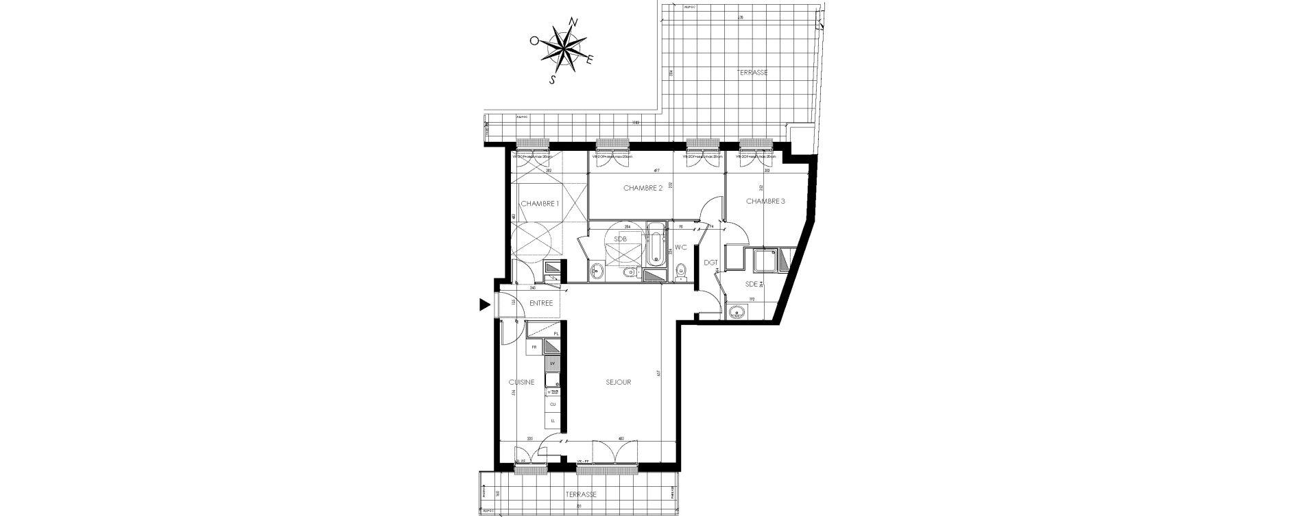 Appartement T4 de 93,88 m2 à Maisons-Laffitte Centre