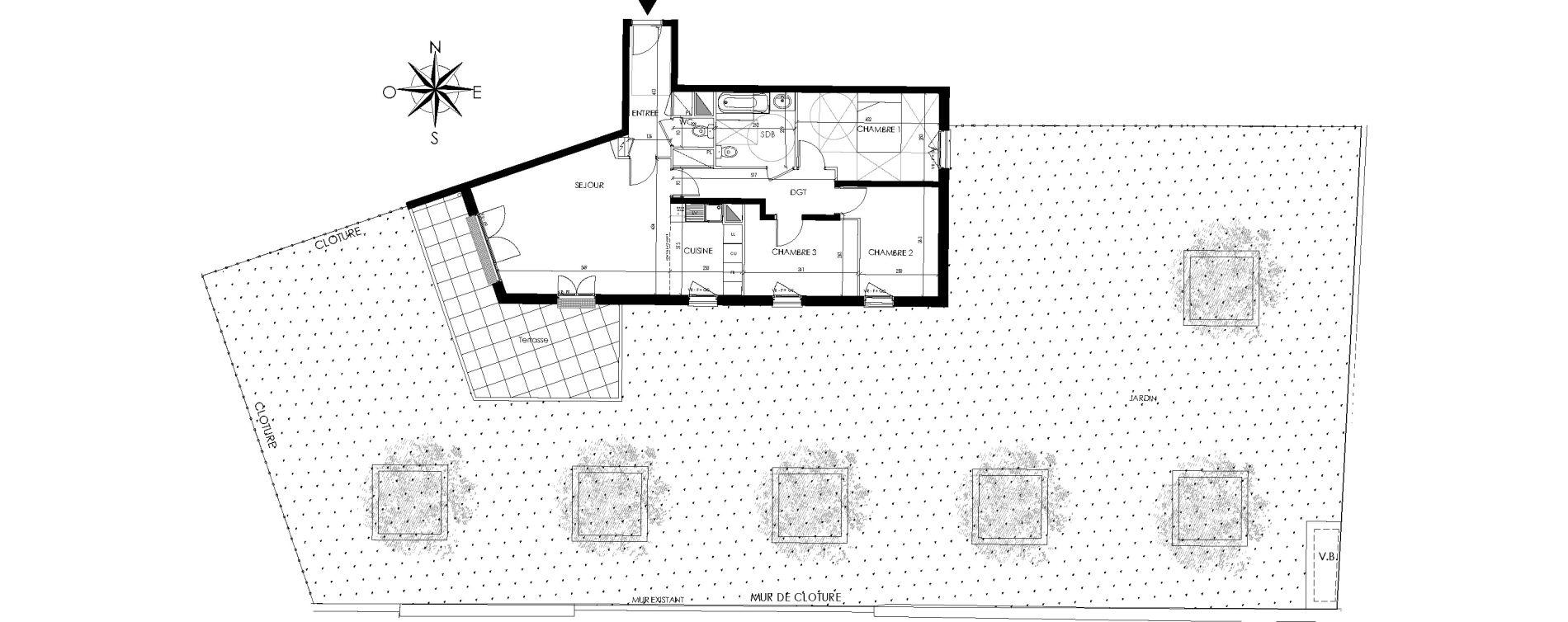 Appartement T4 de 82,16 m2 à Maisons-Laffitte Centre
