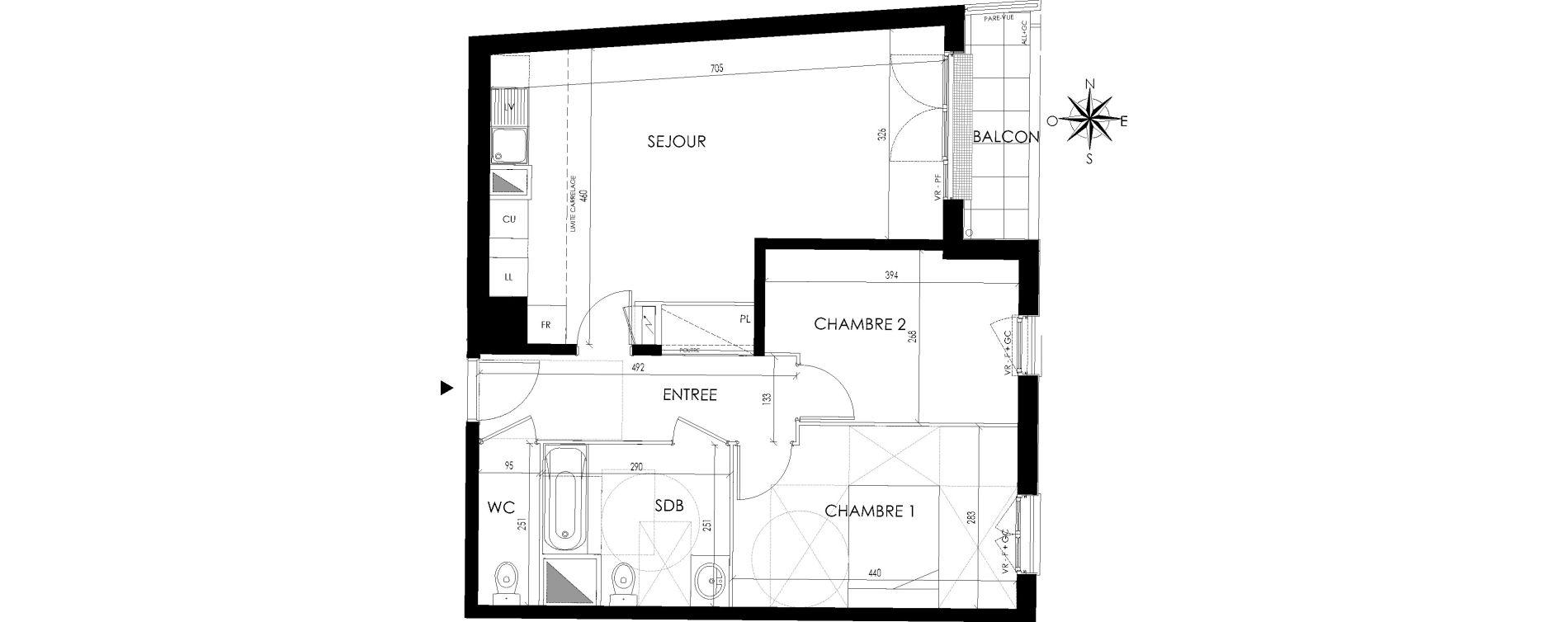 Appartement T3 de 64,98 m2 à Maisons-Laffitte Centre