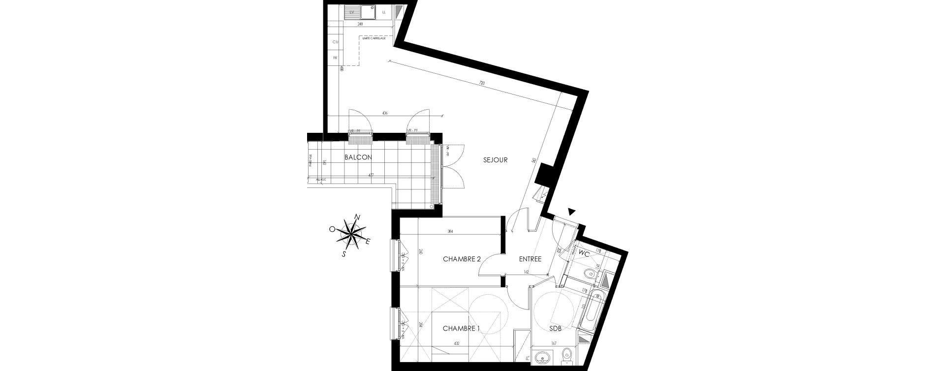 Appartement T3 de 80,50 m2 à Maisons-Laffitte Centre