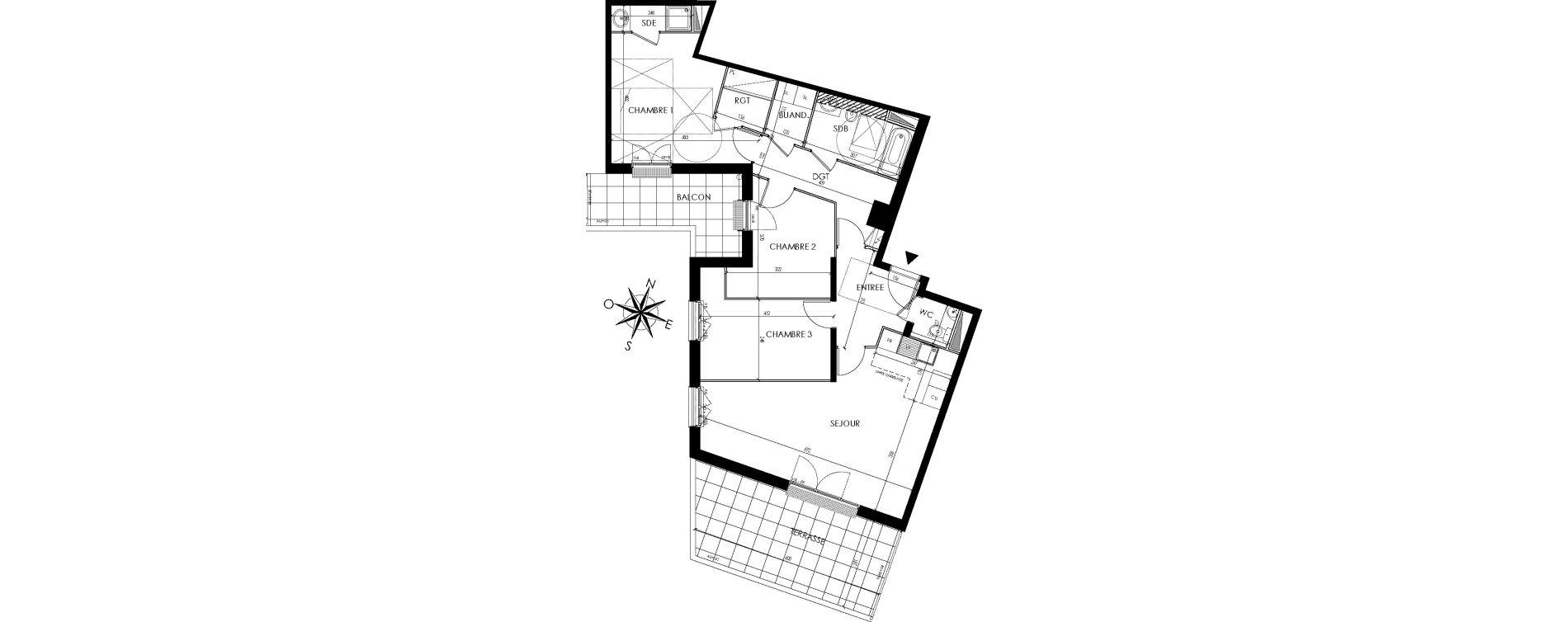 Appartement T4 de 87,09 m2 à Maisons-Laffitte Centre