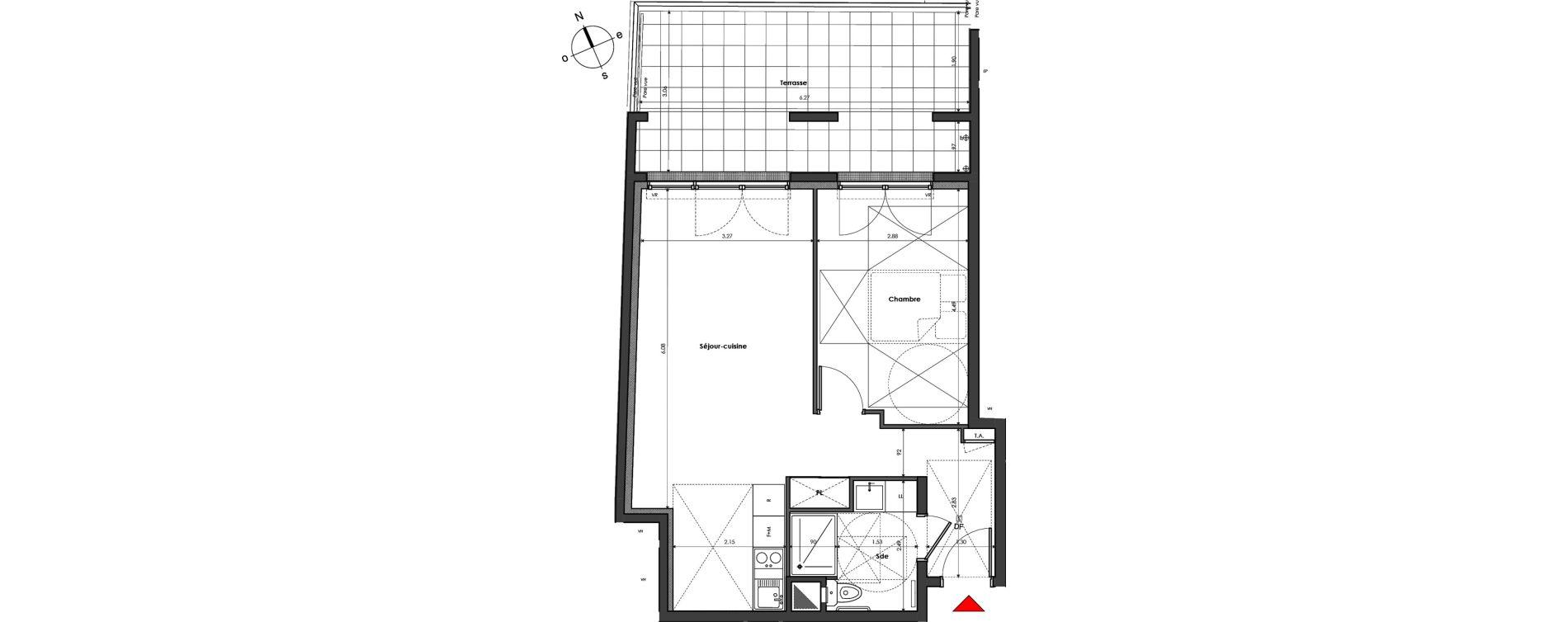 Appartement T2 de 48,26 m2 à Mantes-La-Jolie Gassicourt
