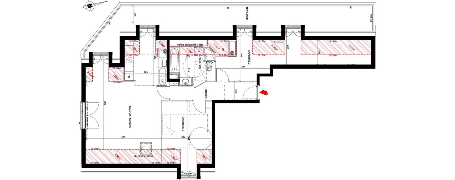 Appartement T3 de 73,68 m2 à Marly-Le-Roi Les vauillons