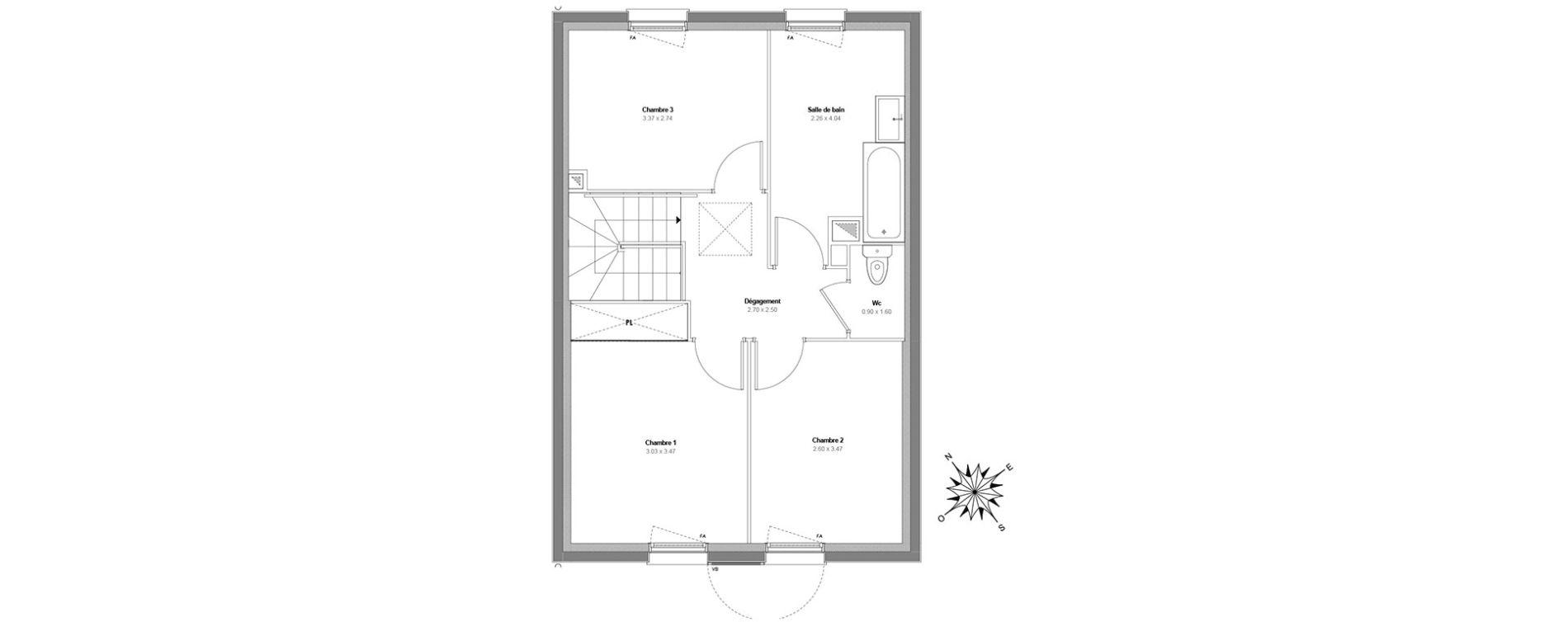 Maison T4 de 91,11 m2 à Maurepas Centre