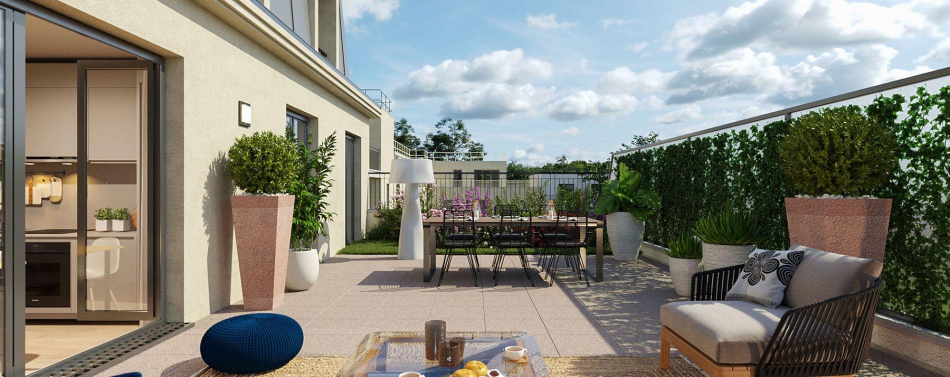 Montesson programme immobilier neuve « Les Jardins du Lavoir » en Loi Pinel