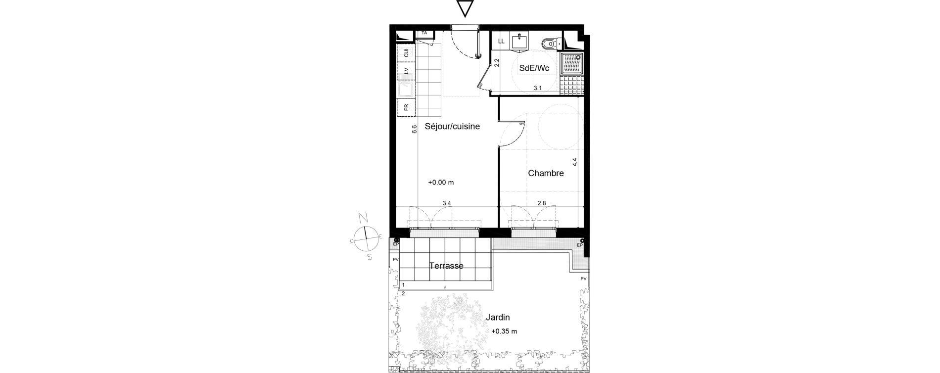 Appartement T2 de 39,45 m2 à Plaisir Centre