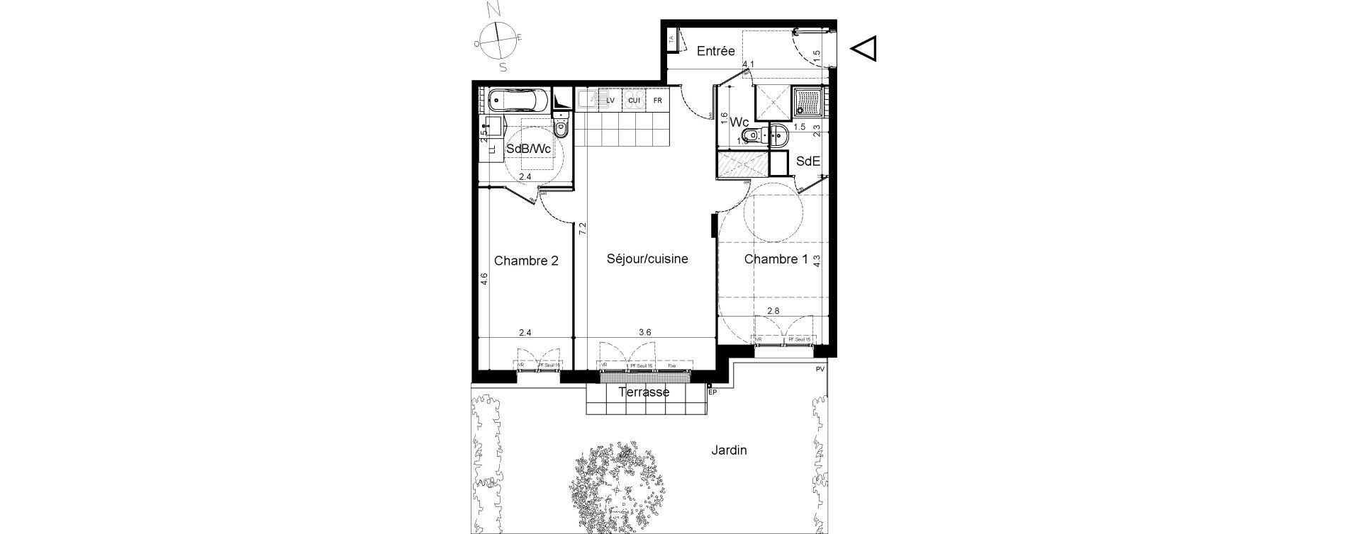 Appartement T3 de 66,13 m2 à Plaisir Centre