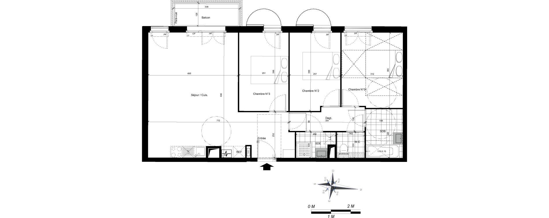 Appartement T4 de 79,50 m2 à Plaisir Centre