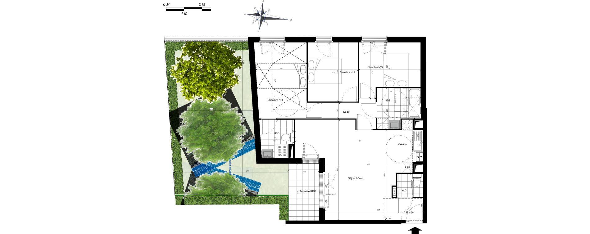 Appartement T4 de 76,35 m2 à Plaisir Centre
