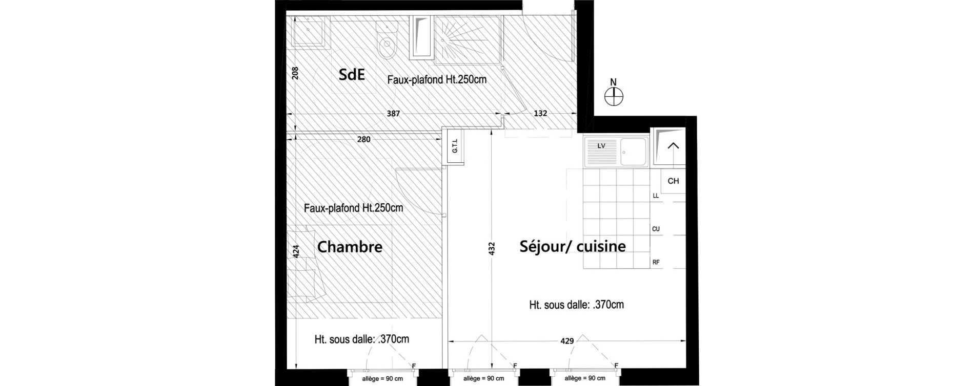 Appartement T2 de 40,50 m2 à Rambouillet Centre