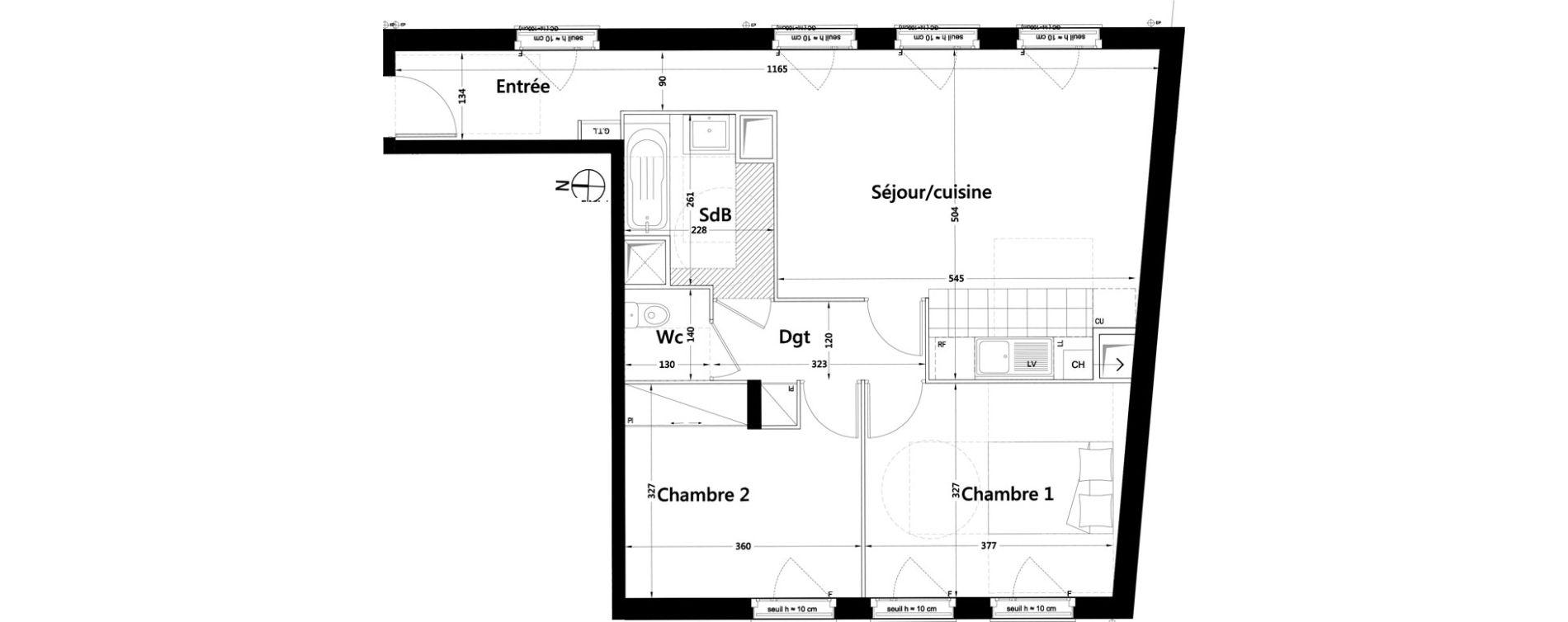 Appartement T3 de 65,01 m2 à Rambouillet Centre