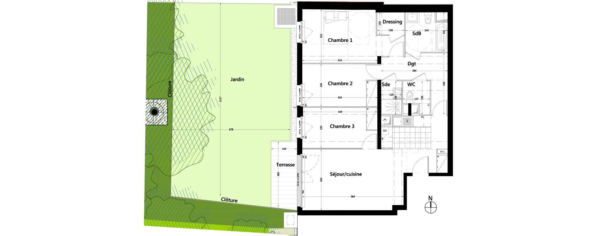 Appartement T4 de 89,19 m2 à Rambouillet Centre