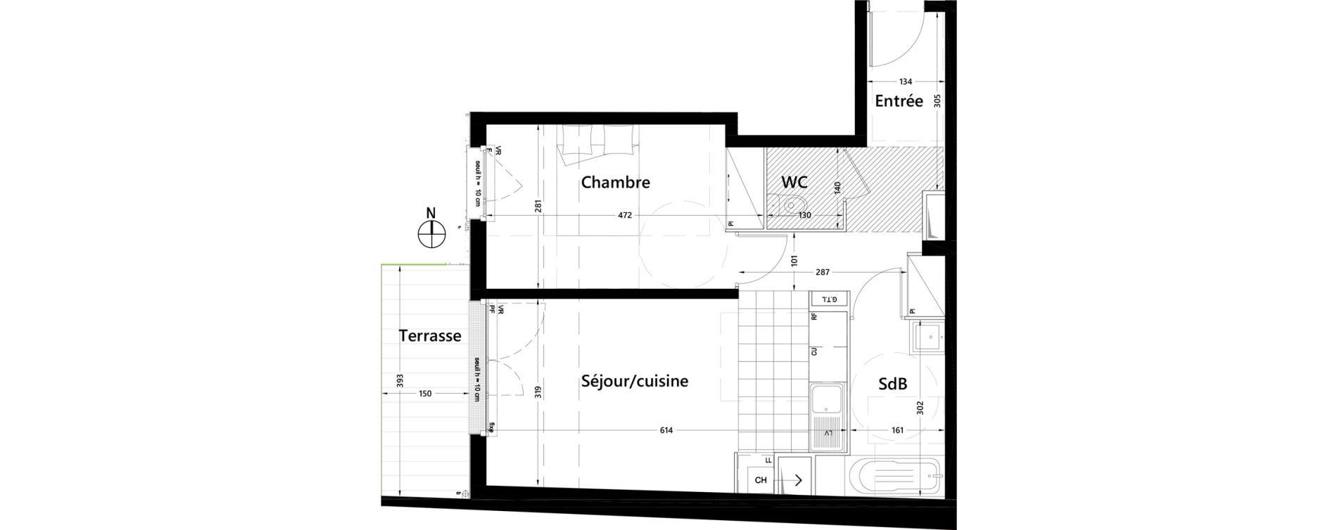 Appartement T2 de 47,37 m2 à Rambouillet Centre