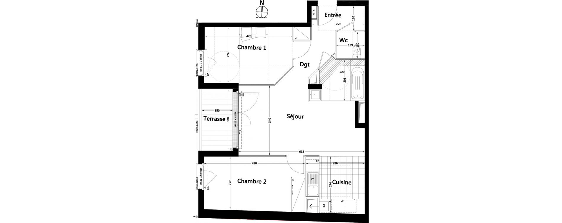 Appartement T3 de 62,99 m2 à Rambouillet Centre
