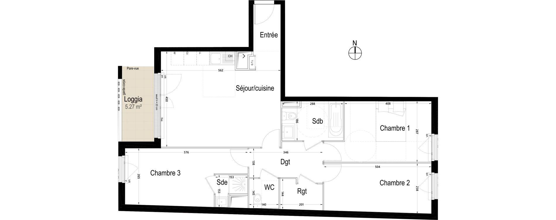 Appartement T4 de 81,86 m2 à Rambouillet Centre