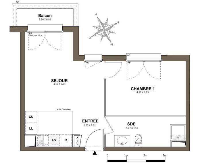 Plan T2 neuf à Saint-Cyr-l'École de