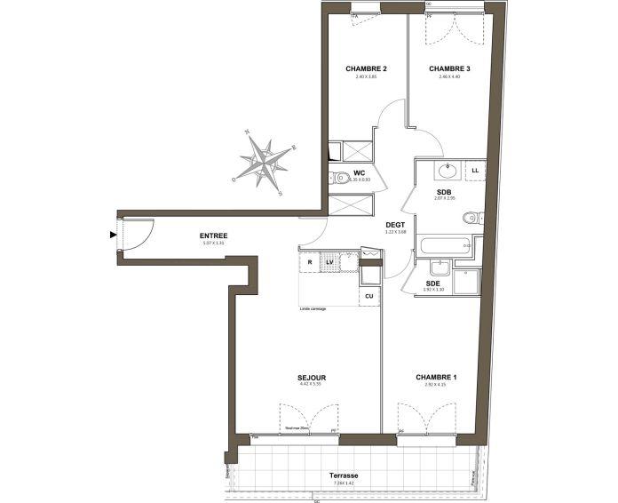 Plan T4 neuf à Saint-Cyr-l'École de