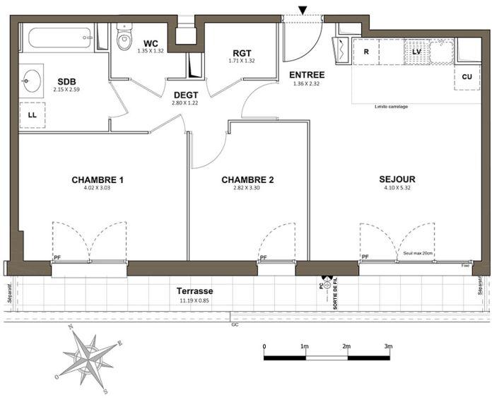 Plan T3 neuf à Saint-Cyr-l'École de