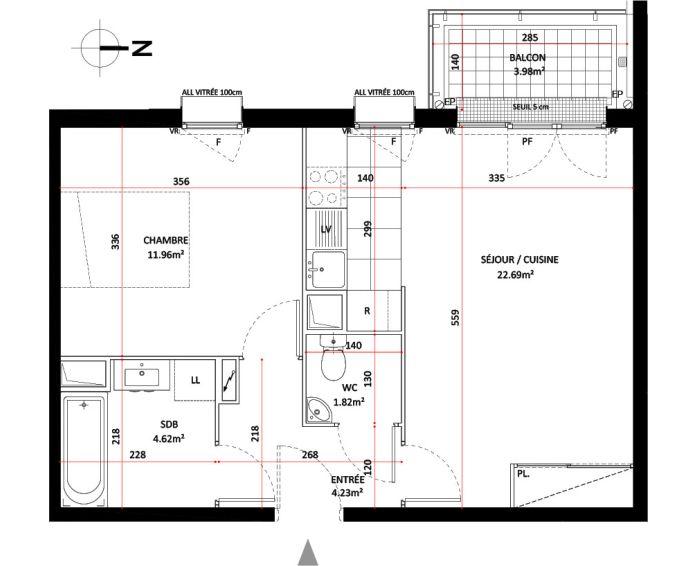 Plan T2 neuf à Saint-Germain-en-Laye de