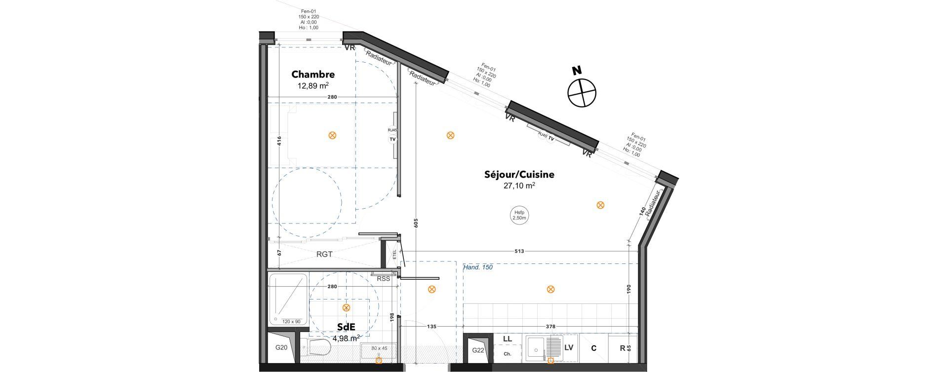 Appartement T2 de 44,97 m2 à Thoiry Centre