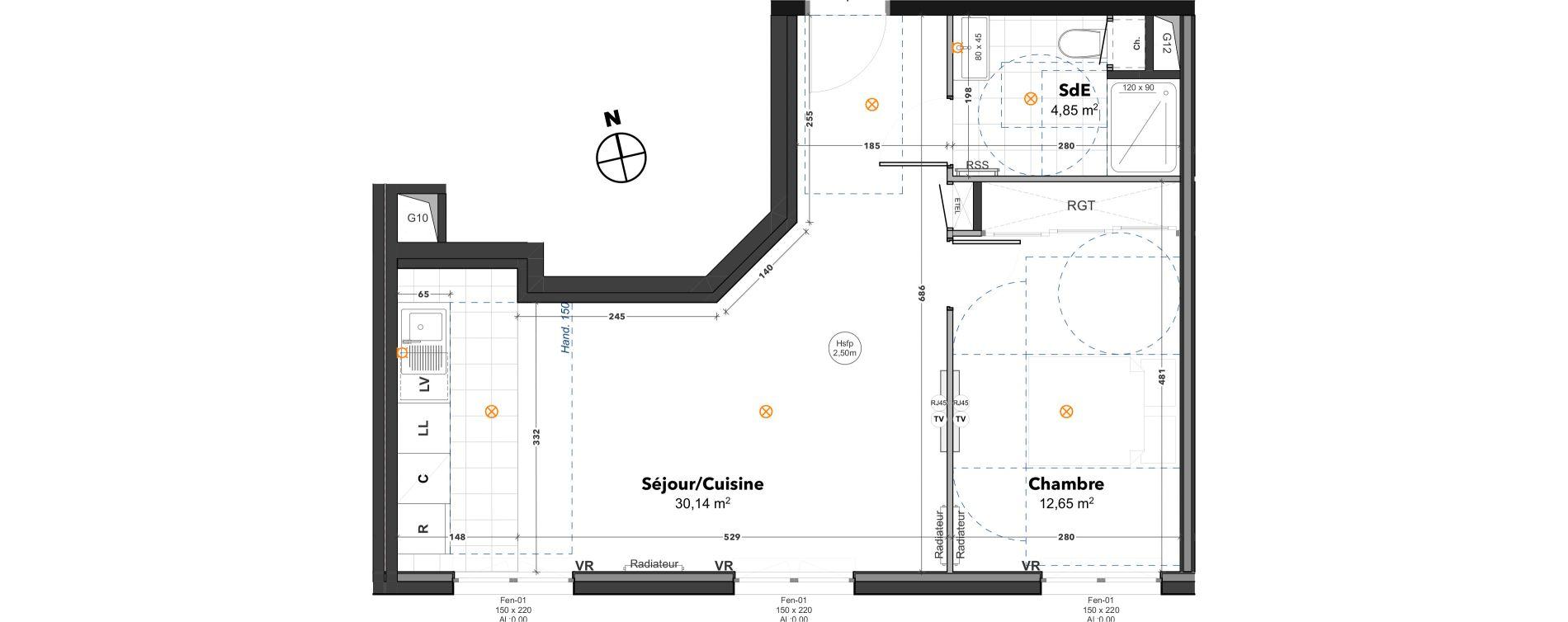 Appartement T2 de 47,64 m2 à Thoiry Centre