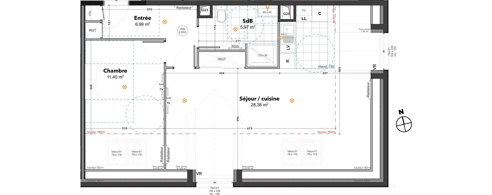 Appartement T2 de 52,72 m2 à Thoiry Centre