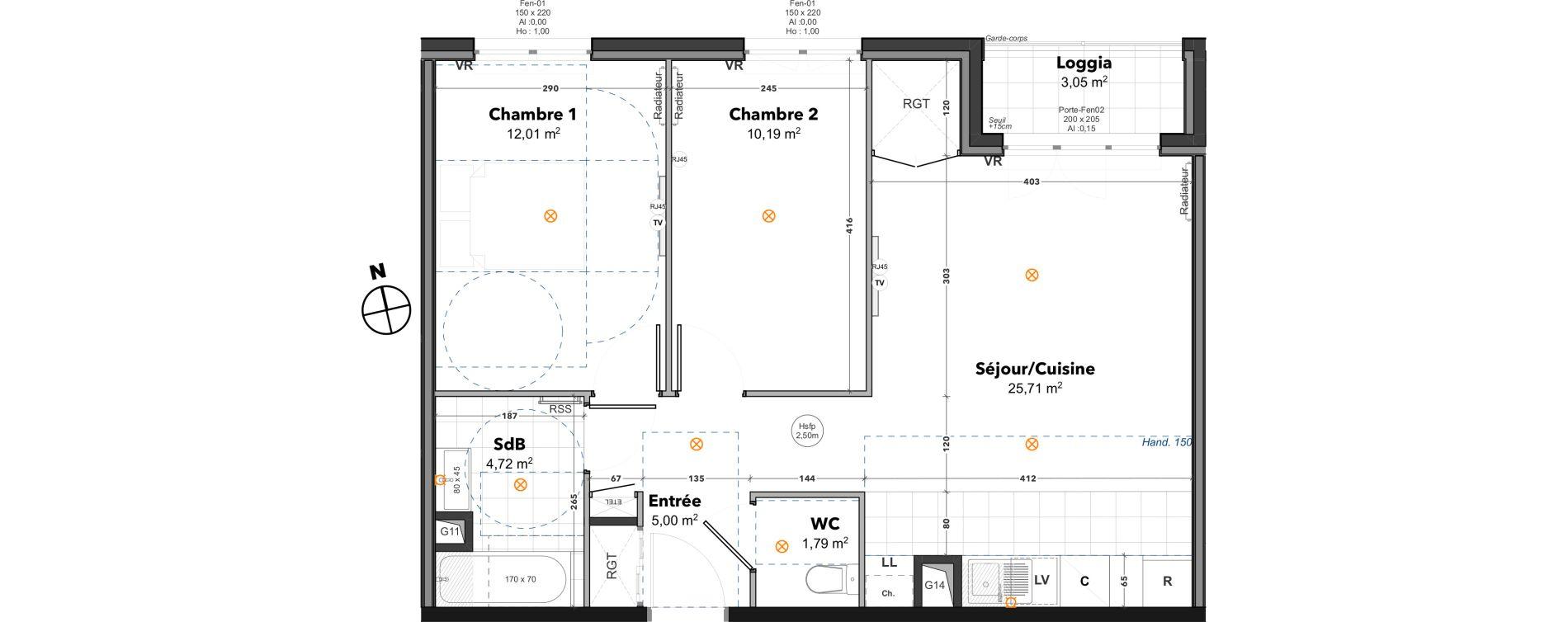 Appartement T3 de 59,42 m2 à Thoiry Centre