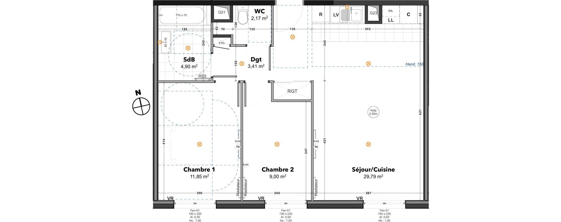 Appartement T3 de 61,12 m2 à Thoiry Centre