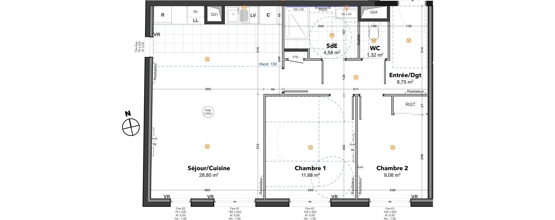 Appartement T3 de 64,21 m2 à Thoiry Centre