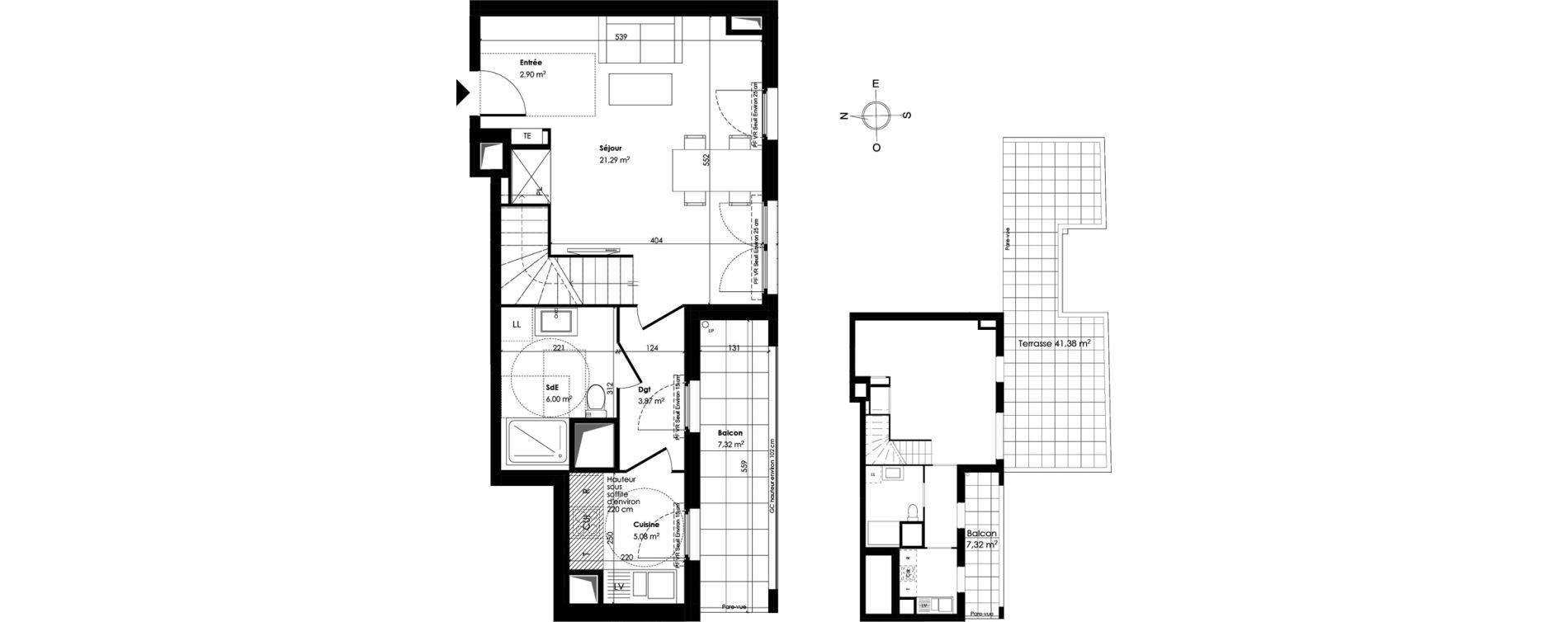Appartement T5 de 93,22 m2 à Trappes Centre