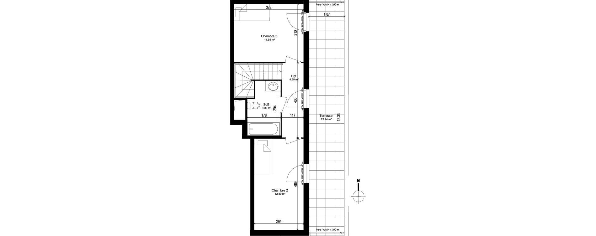 Appartement T4 de 89,28 m2 à Trappes Centre