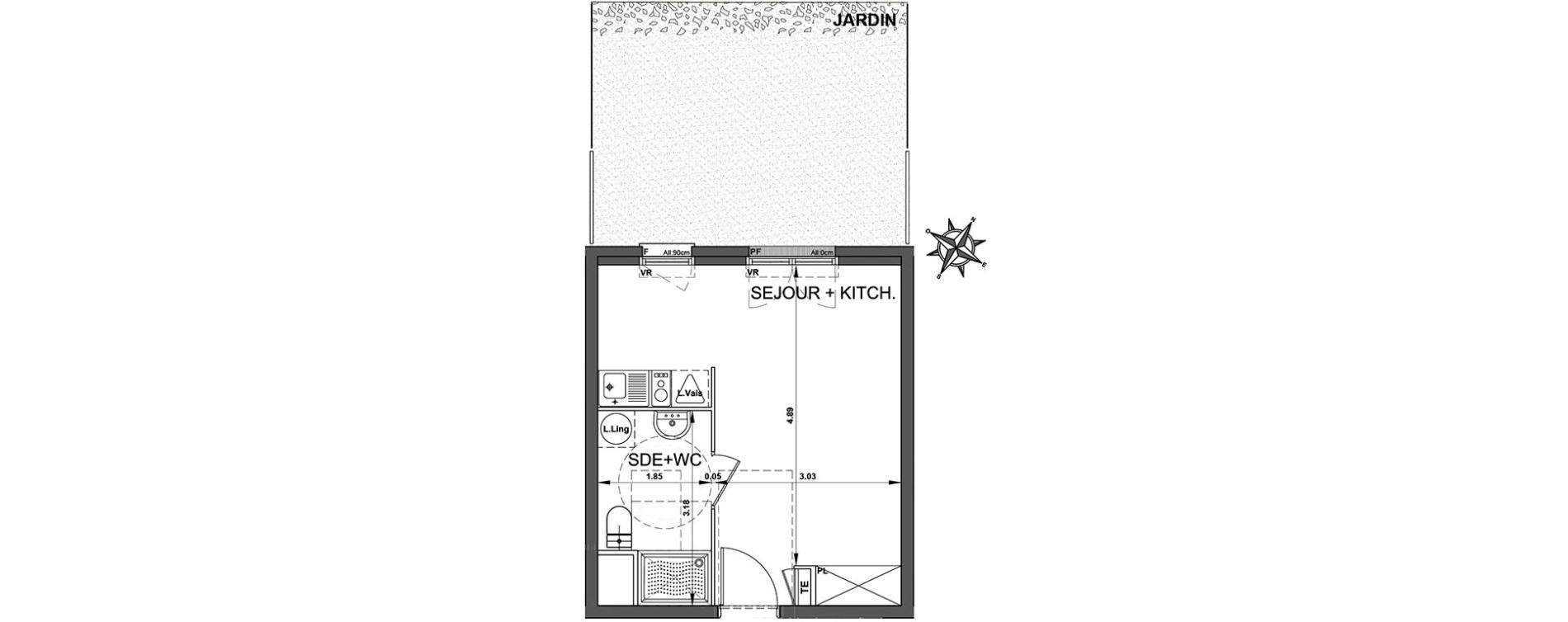 Plan Studio neuf à Trappes de