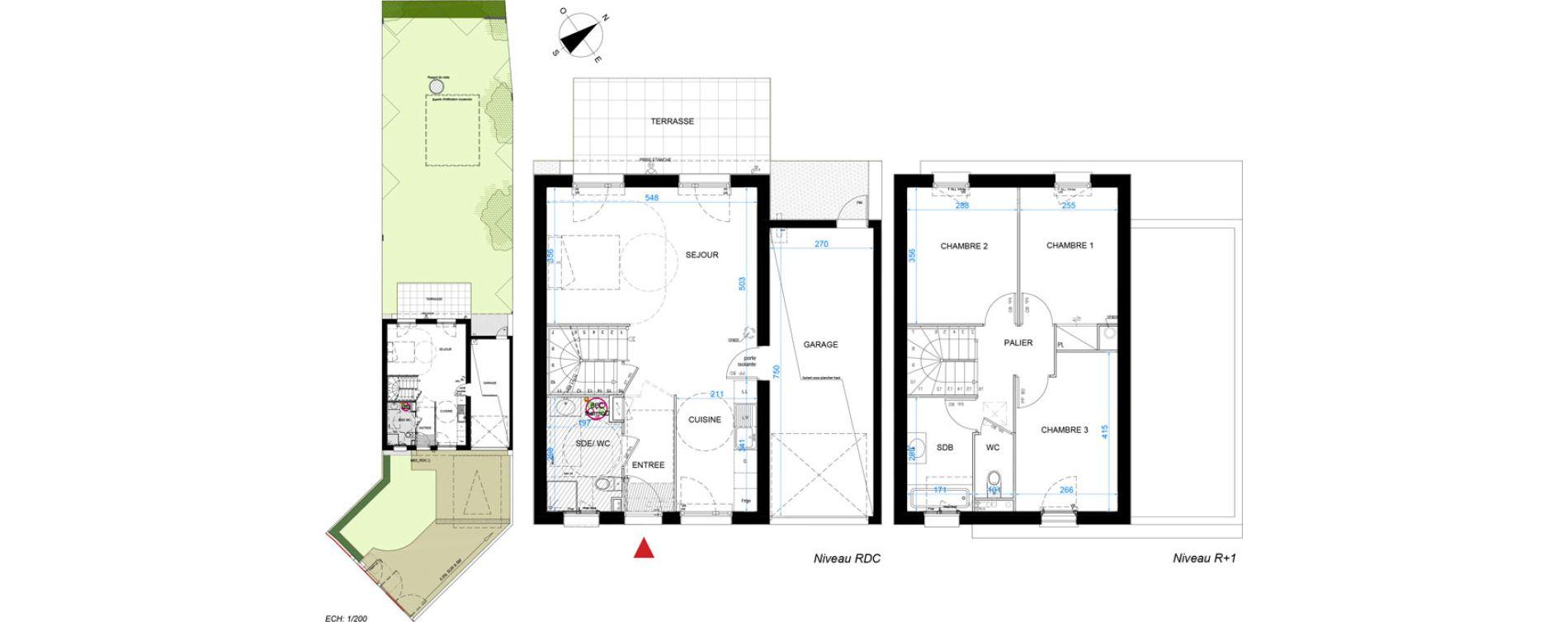 Maison T4 de 83,90 m2 à Verneuil-Sur-Seine Centre