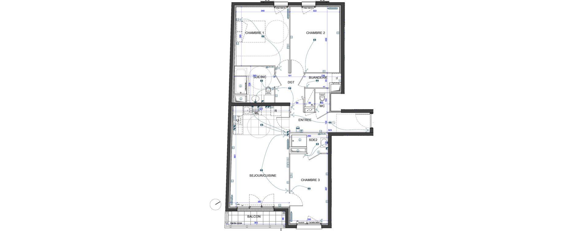 Appartement T4 de 87,40 m2 à Verneuil-Sur-Seine Le vieux verneuil