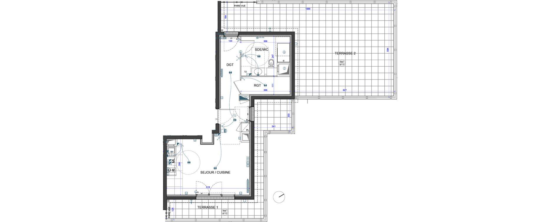 Appartement T1 de 37,00 m2 à Verneuil-Sur-Seine Le vieux verneuil