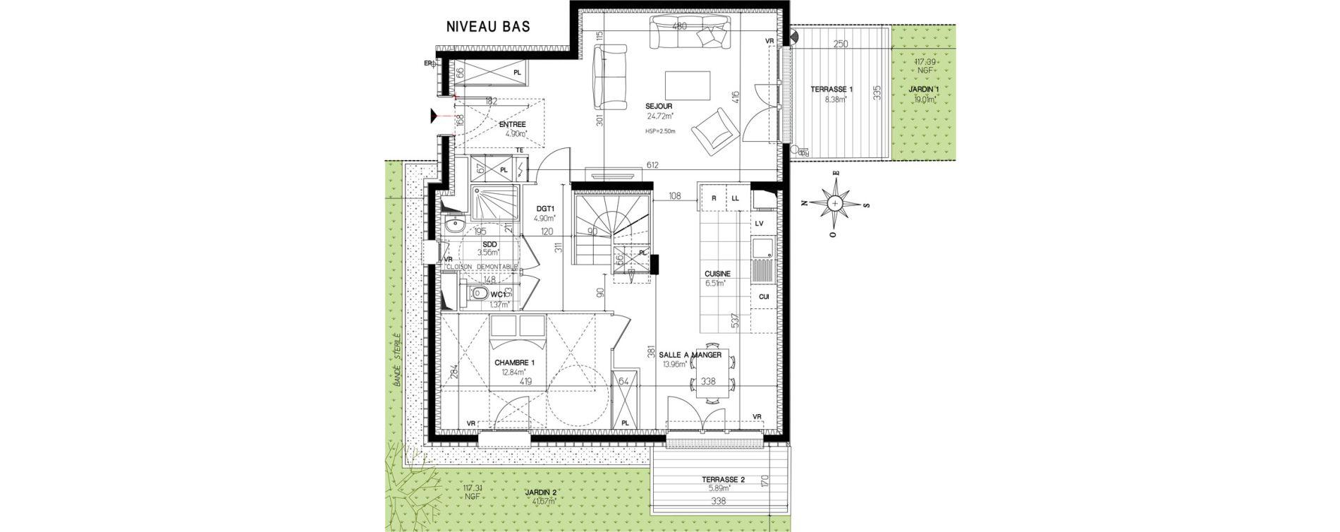 Maison T5 de 137,11 m2 à Versailles Centre