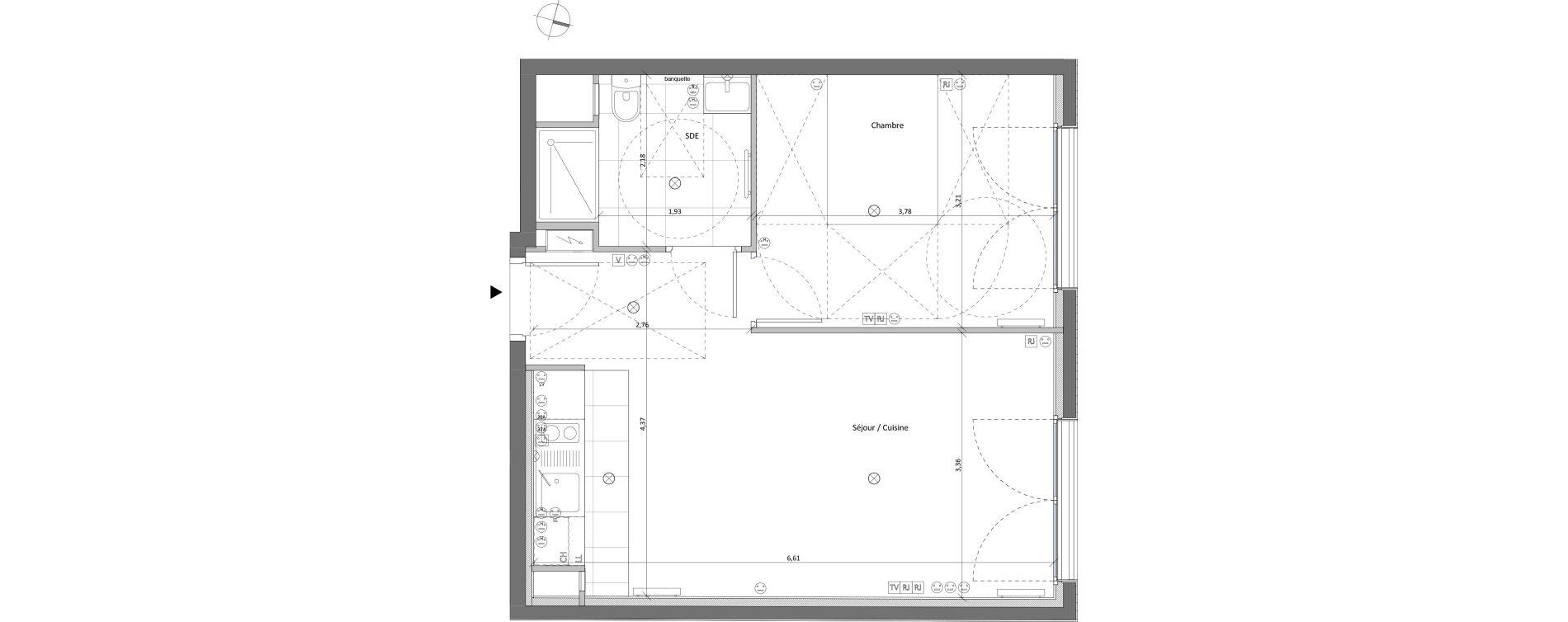 Appartement T2 de 42,30 m2 à Viroflay Centre