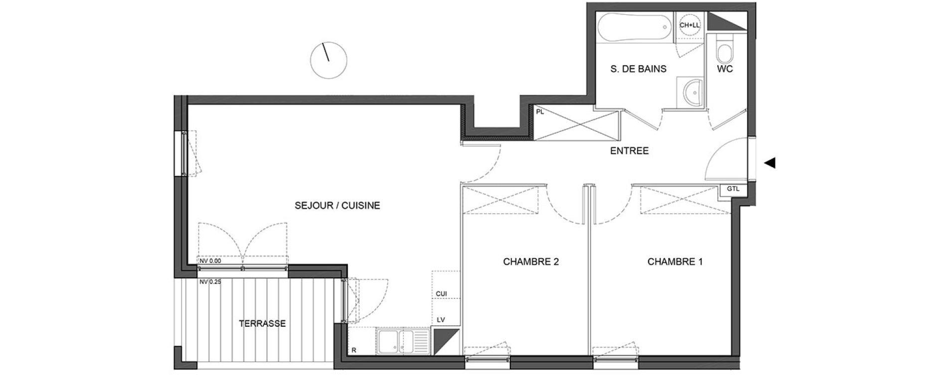 Appartement T3 de 62,80 m2 à Bénouville Centre