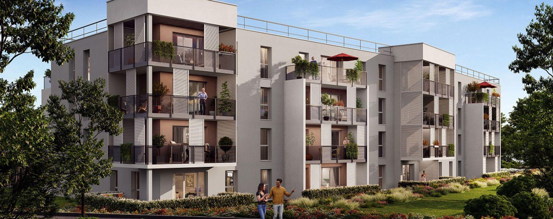 Blainville-sur-Orne : programme immobilier neuve « Rosa Alba »