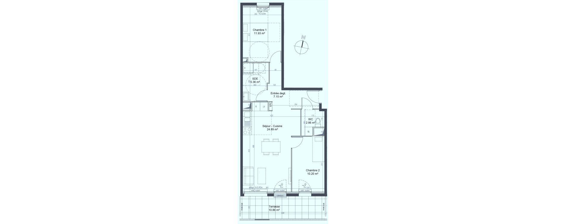 Appartement T3 de 62,39 m2 à Fleury-Sur-Orne Les hauts de l'orne