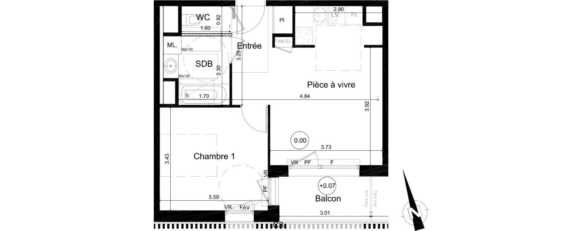 Plan T2 neuf à Fleury-sur-Orne de